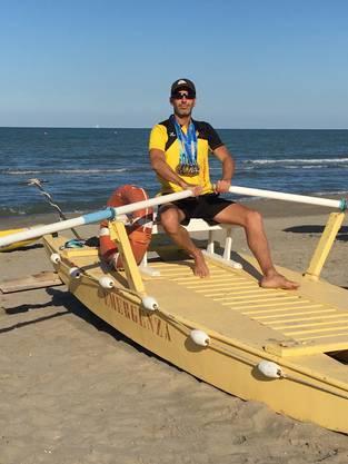 Am Strand von Riccione (Italien) gewann Michael Beck sechs EM-Medaillen.
