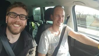 Unser Reporter Daniel Fuchs mit seinem #MitfahrenLuzern-Driver.