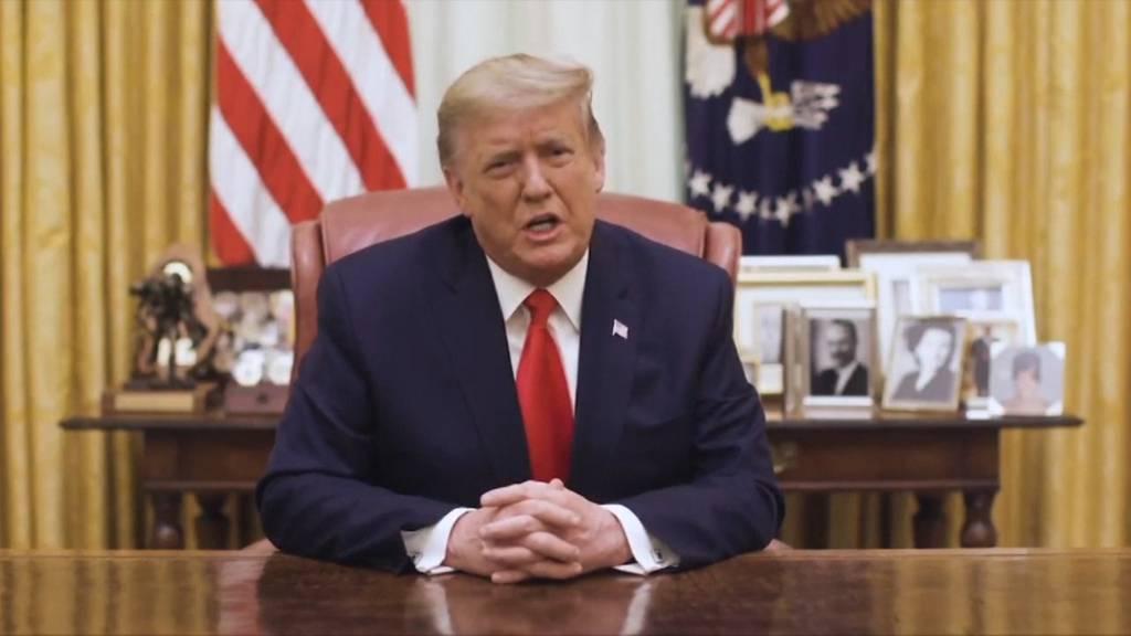 Trump: «Es darf keine Gewalt geben»