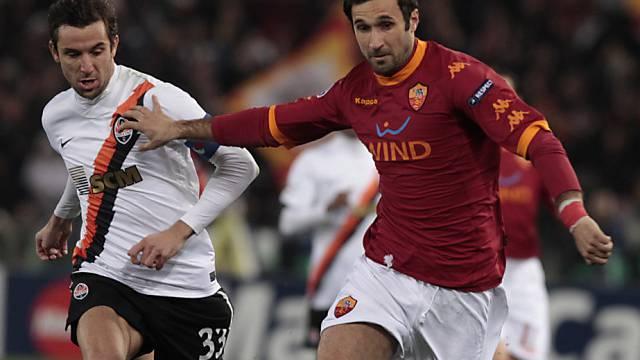 Mirko Vucinic erzielte die 1:0-Führung für die Römer