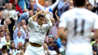 Cristiano Ronaldo feiert das 2:0 für Real Madrid