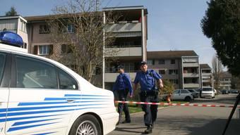 Tödliches Beziehungsdrama in Aarau im Damm-Quartier, Strasse «Im Ifang». Ein Kosovare tötete hier seine Ehefrau.