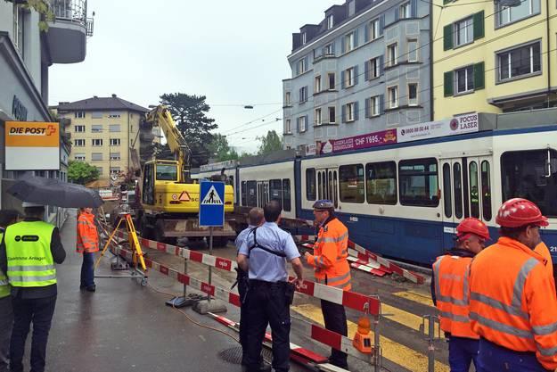 Die Strecke der Tramlinie 7 war für Stunden unterbrochen