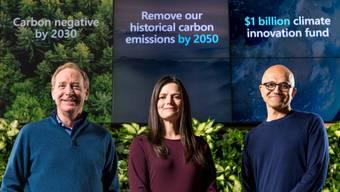 Microsoft ist seit 2012 CO2-neutral. Nun geht der Techkonzern einen grossen Schritt weiter.