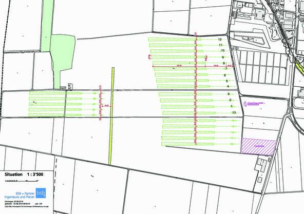 So sieht das Spielgelände auf dem Papier aus: 23 Spielfelder werden auf 26 Hektaren ausgesteckt
