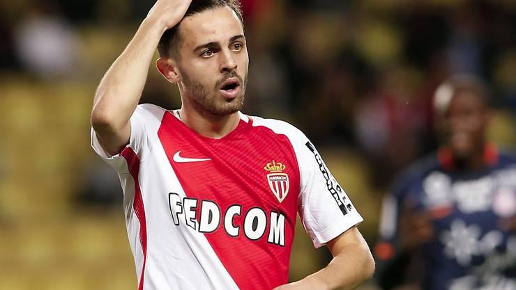 Monaco mit Bernardo Silva (im Bild) kommt gegen Saint-Etienne nicht über ein Unentschieden hinaus