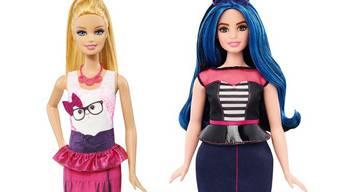 Rechts die neue Barbie mit Hüftgold. Ab März/April in der Schweiz erhältlich. Dass bei der Grossen und der Kurvigen mehr Plastik verbraucht wurde, hat keinen Preisanstieg zur Folge (etwa Fr. 19.90).
