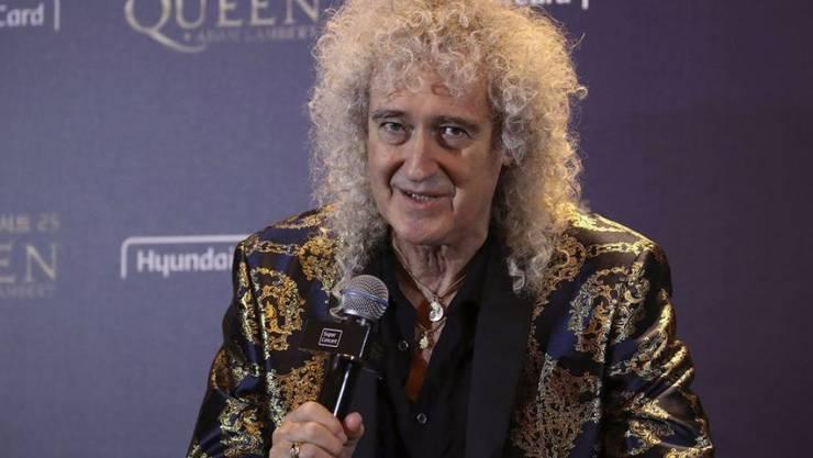 Brian May, Gitarrist der Rockband Queen, freut sich, dass der Band eine neue Fünf-Pfund-Münze gewidmet ist. (Archiv)