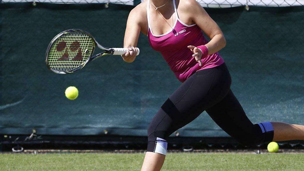 Freut sich auf das Turnier in Wimbledon: Belinda Bencic im Training in London