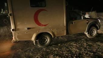 Eine Ambulanz der afghanischen Armee am Unfallort