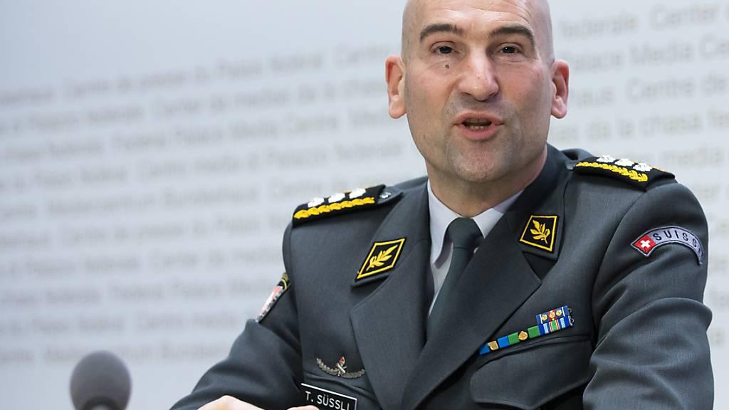 Der Chef der Armee Thomas Süssli ist am Montag positiv auf das Coronavirus getestet worden. (Archivbild)