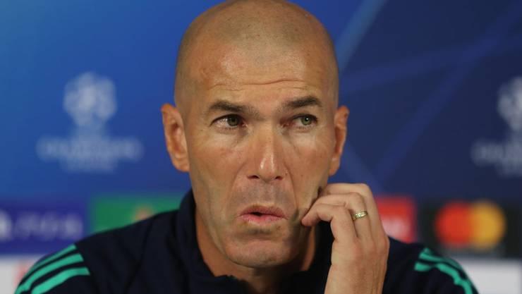 Muss liefern: Zinédine Zidane, Trainer von Real Madrid (Bild: key).