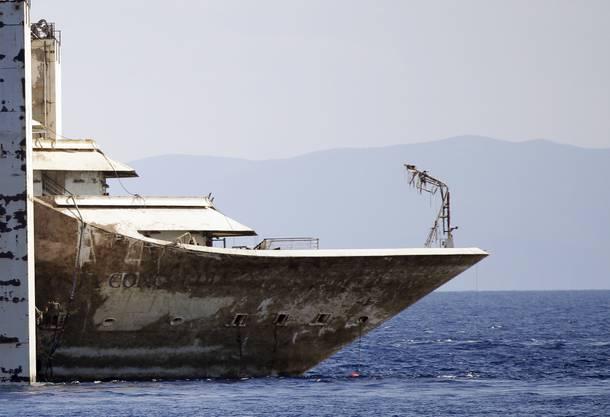 Das Schiff wird in Genua abgewrackt