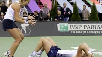 Das amerikanische Fed-Cup-Team setzte sich in Minsk nach hartem Kampf gegen den Gastgeber Weissrussland durch