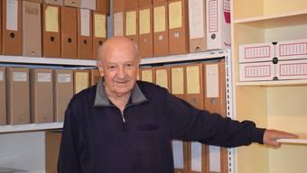 Walter Stohler und sein Archiv.