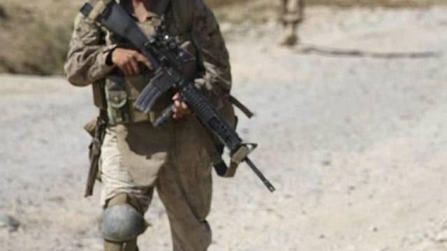 US Marine bei Kämpfen in Helmand Provinz