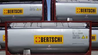 Tankcontainer aus der neuen Übersee-Flotte von Bertschi. Archiv