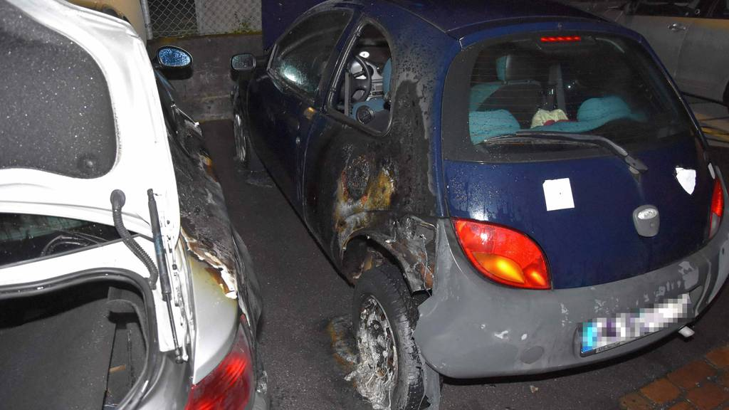 Zwei Autos abgebrannt – über 10'000 Franken Sachschaden