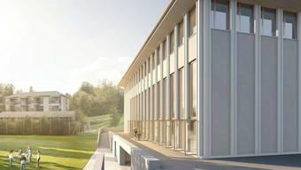 Über neue Mehrzweckhalle – hier eine Visualisierung – können die Dürrenäscher am 8. März nochmals abstimmen.