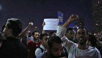 Teilnehmer an Anti-Regierungskundgebung in der ägyptischen Hauptstadt Kairo.