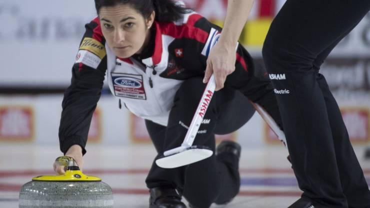 Für Skip Binia Feltscher harzt es an der Weltmeisterschaft in Kanada weiter