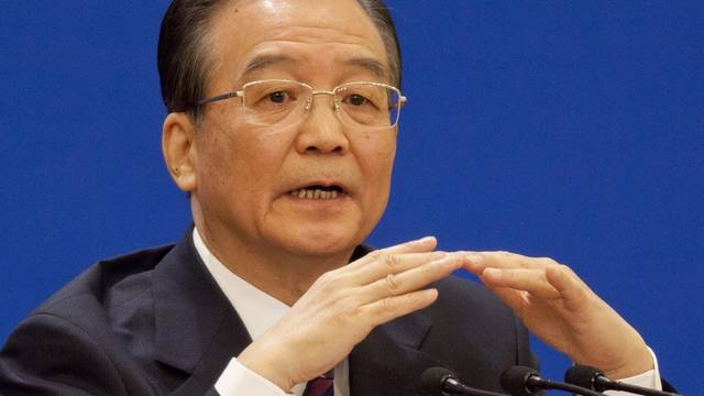 Regierungschef Wen Jiabao erwähnt an der Pressekonferenz die Atomunglücke in Japan nicht