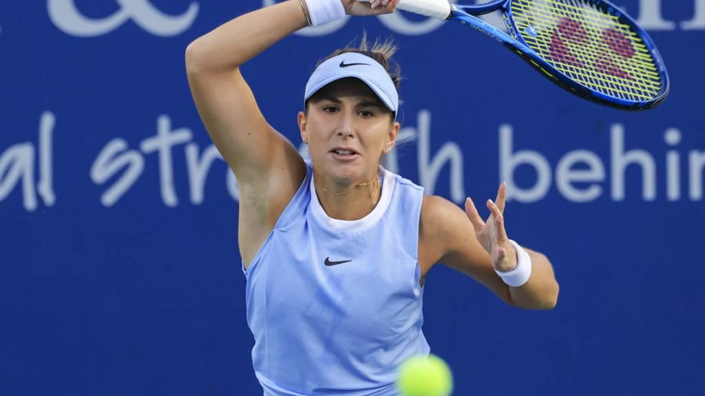 Belinda Bencic trifft am US Open in New York in der Startrunde auf die Niederländerin Arantxa Rus, gegen die sie beide bisherigen Begegnungen gewonnen hat