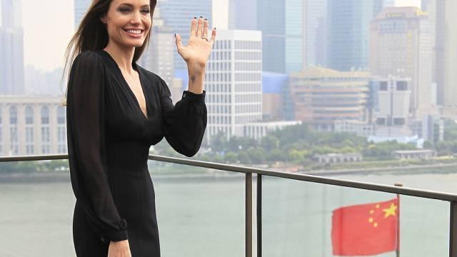 Angelina Jolie während eines Auftritts in China (Archiv)