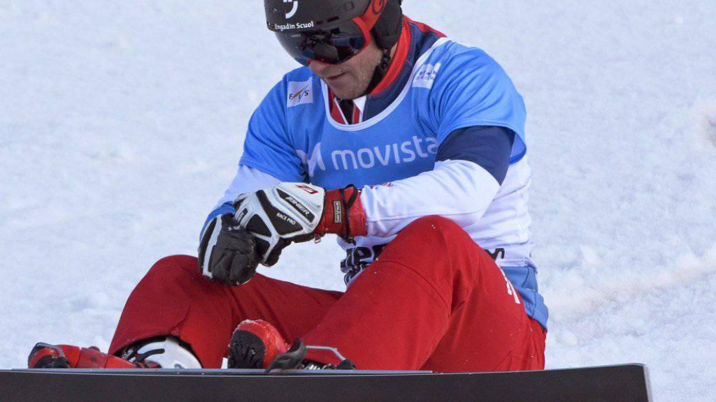 Kurz nach der Zieleinfahrt und dem 4. Platz im WM-Parallelslalom in der Sierra Nevada niedergeschlagen: Nevin Galmarini