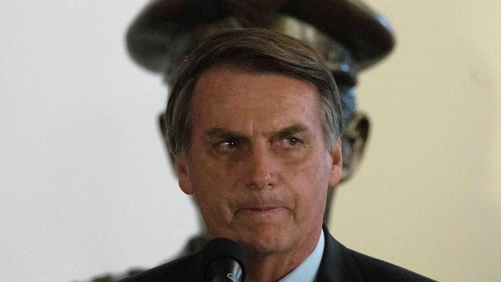 Die Börse reagierte positiv: Brasiliens neuer Präsident Jair Bolsonaro trat am Mittwoch offiziell sei nAmt an.