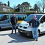 Reto Kämpfer, Leiter Netzwerk und Sozialer Dienst oberer Leberberg, und Martin Hächler, Spezialist Logistik und Projekte beim Netzwerk, organisieren die Transporte mit zwei Lieferwagen für eine zeitnahe Lieferung der Waren zu den Kunden.