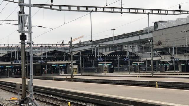 Ungewohntes Bild dieses Wochenende am Bahnhof Luzern