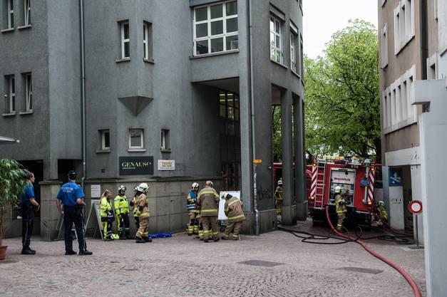 Grossaufgebot der Stadt Baden: Insgesamt standen 117 Feuerwehrleute im Einsatz