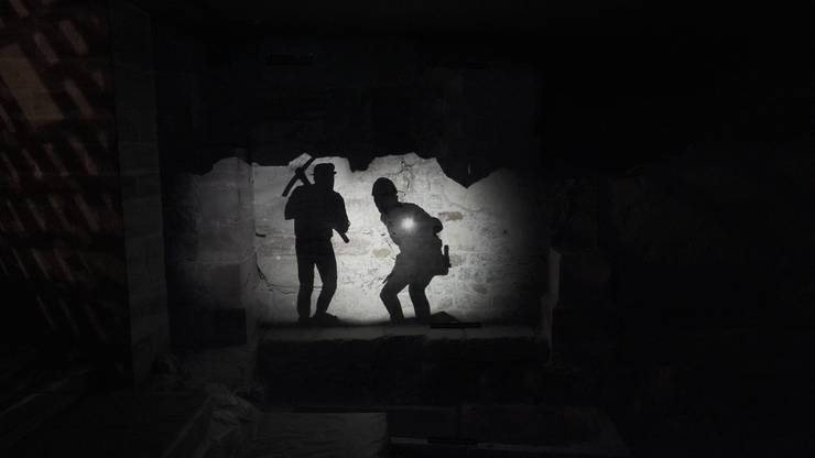 Archeologe entdecken 1966 die im 19. Jahrhundert zugeschüttete Krypta.© Archäologische Bodenforschung BS