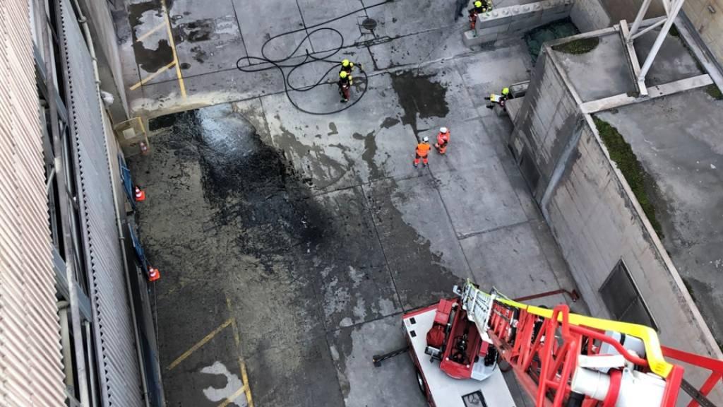 Rohmehl aus Zementwerk ausgetreten: Staubentwicklung im Rheintal