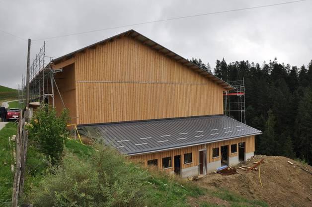 Der Neubau im August