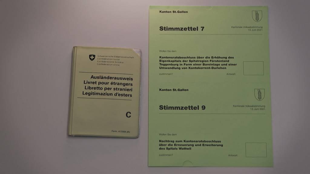 Schlappe: St.Galler Kantonsrat verwirft Ausländerstimmrecht