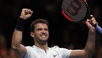 Grigor Dimitrov feierte den zweiten Sieg in London