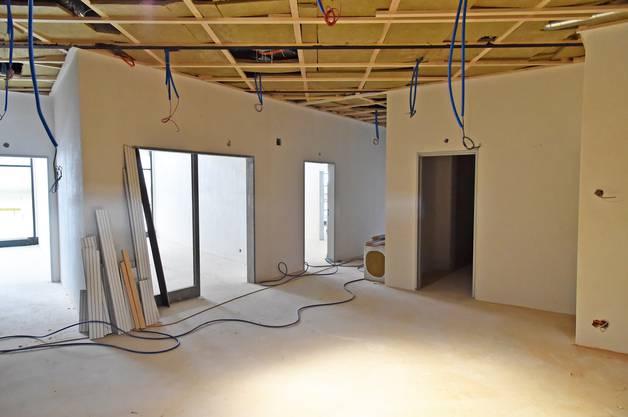 Ein Blick ins Innere des neuen Wohnungstraktes.