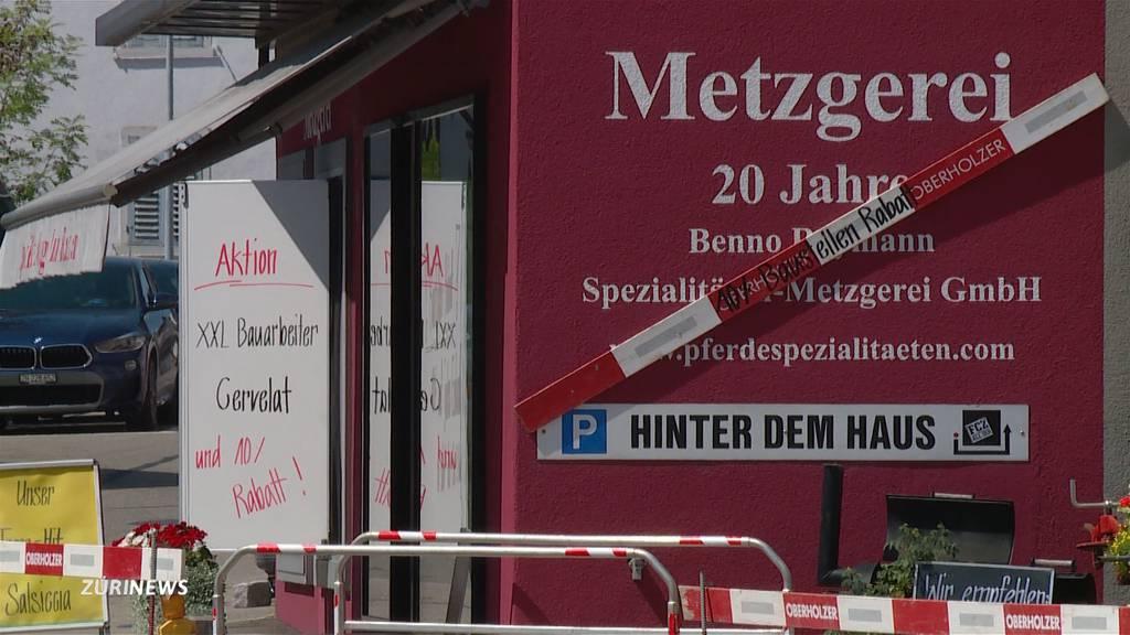 Sperrung des Kreisels  verärgert Ladenbesitzer