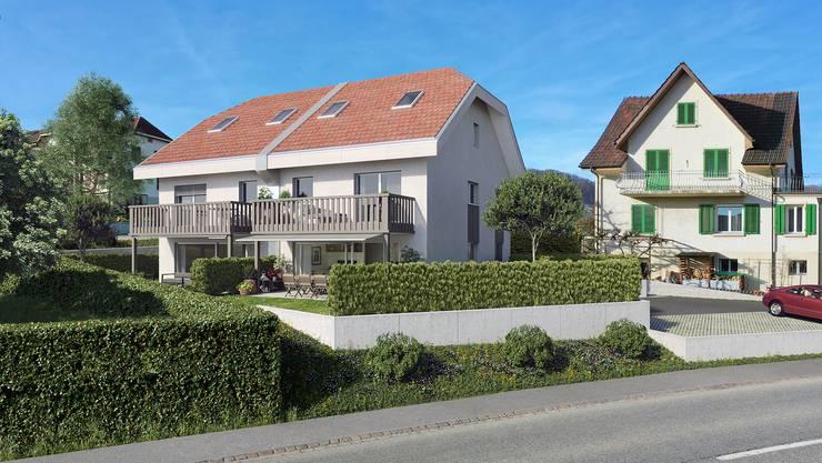 Das geplante Haus wird an der Hauptstrasse stehen.