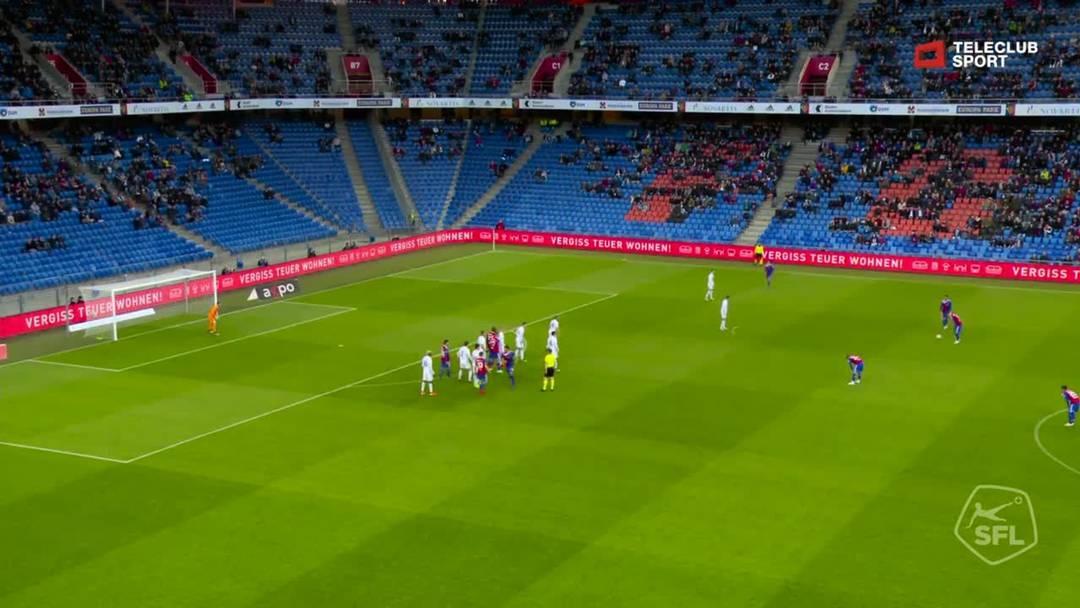 37. Minute: Tor für FC Basel 1893 von Éder Balanta (Assist: Eray Cömert)