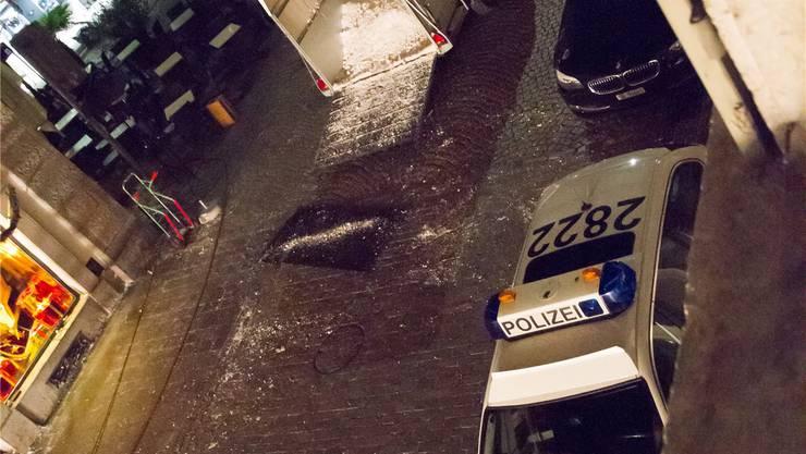 Zum Schluss der Dreharbeiten musste die Polizei anrücken.