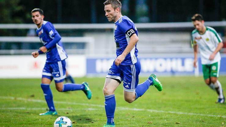Alain Schultz (Nr. 10, FC Wohlen) im Spiel FC Wohlen gegen den SC Brühl aufgenommen im Stadion Niedermatten in Wohlen am 25. August 2018.