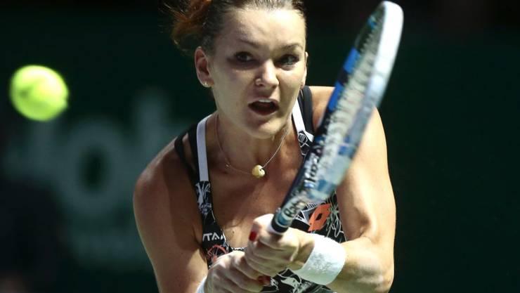 Vorjahressiegerin Agnieszka Radwanska verliert an den WTA-Finals in Singapur ihr Auftaktspiel
