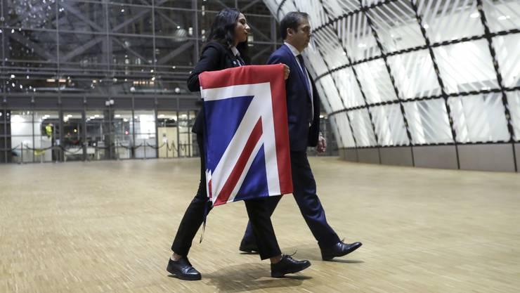 """Abmontiert: Der """"Union Jack"""" wird in Brüssel nicht mehr länger zu sehen sein."""