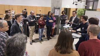 Politanlass zum Stipendiengesetz, Kanti Wettingen, 30. Januar 2018.