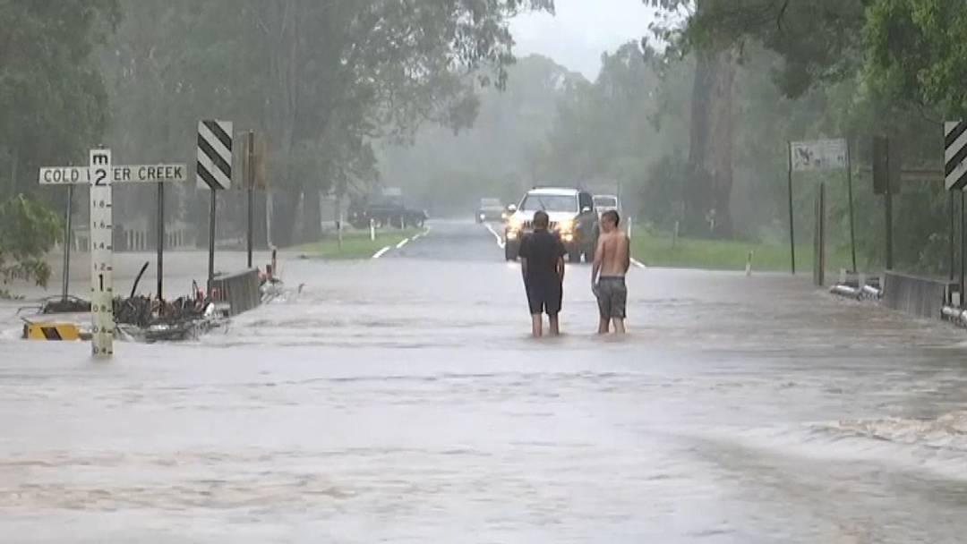 Australien von Regen und Überschwemmung betroffen