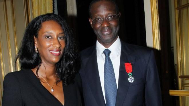 Tidjane Thiam mit seiner Ehefrau Annette. Bertrand Rindoff Petroff/Getty Images.