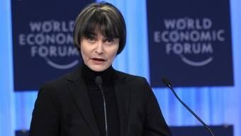 Bundespräsidentin Calmy-Rey spricht am WEF in Davos